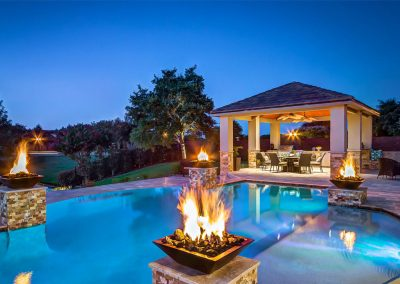 Custom Outdoor Kitchen and Cabana by Creekstone Outdoor Living in Houston Texas