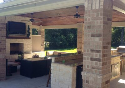 Creekstone Outdoor Living - Cabana with Full Kitchen and Living Room 1