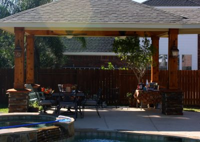 An Attached Cedar Patio in Houston