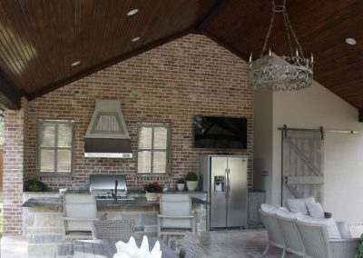 A Custom Summer Kitchen and Outdoor Living Space