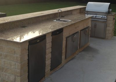 8 foot Granite Counter Top on a custom Stone Island and Stainless Steel Appliances