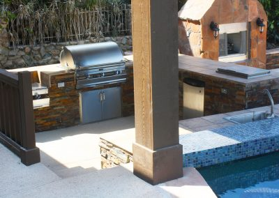 A Custom Summer Kitchen with Poolside Bar