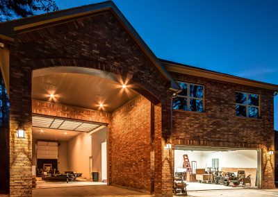 Pool House with RV and 2 Door Garage by Creekstone Outdoor Living