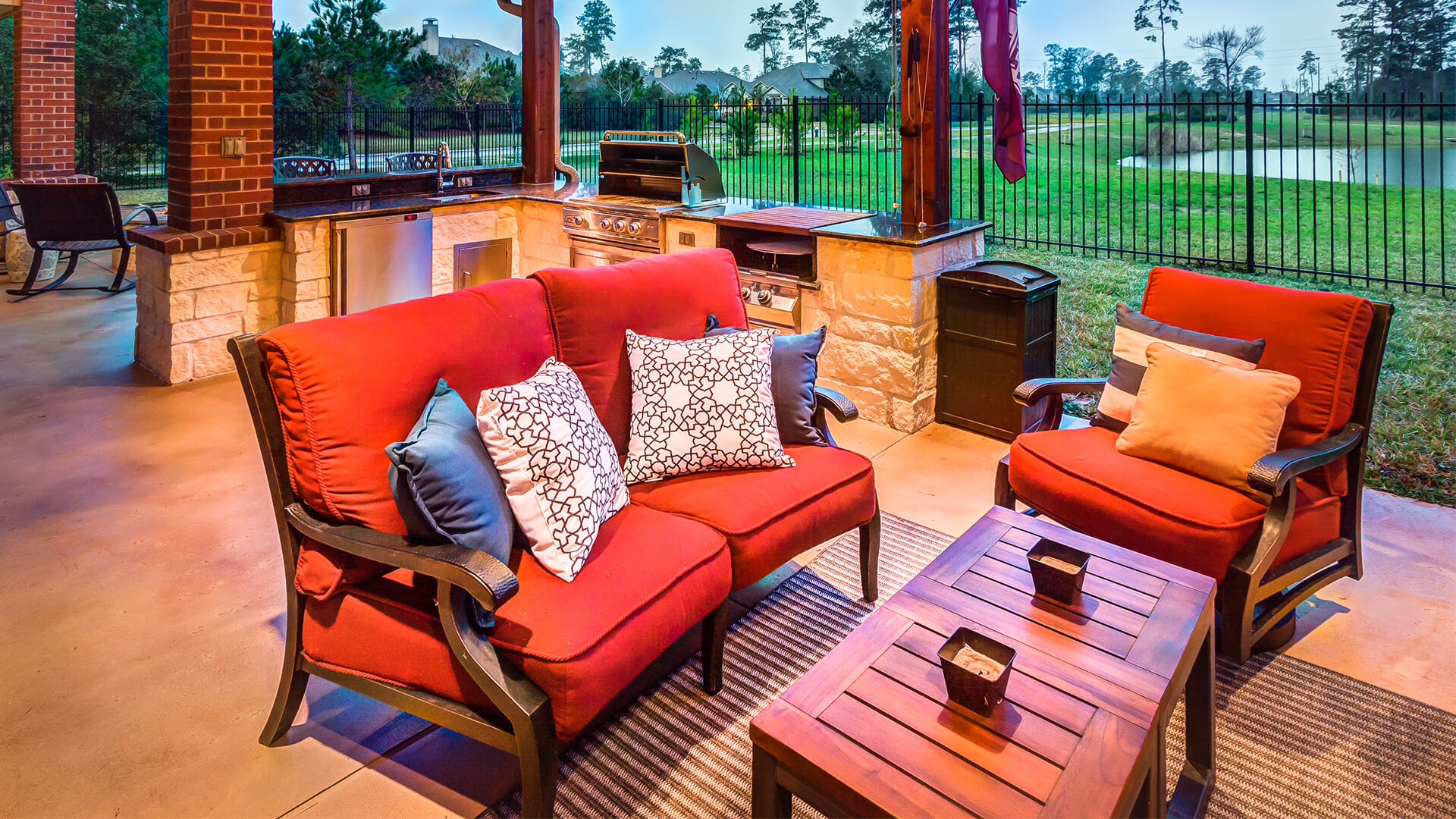 Houston Outdoor Living Room and Kitchen