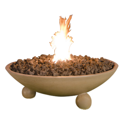 48 Inch Versailles Fire Bowl with ball Feet