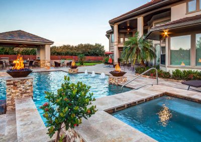 Custom Cabana with Pool by Creekstone Outdoor Living