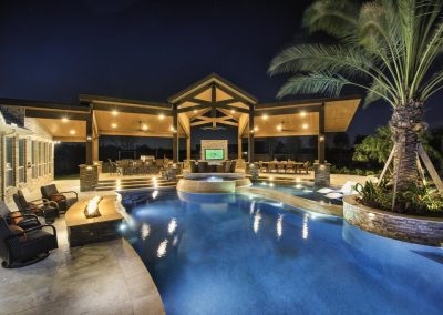 Large Custom Patio Cover, Pool View by Creekstone Outdoor Living