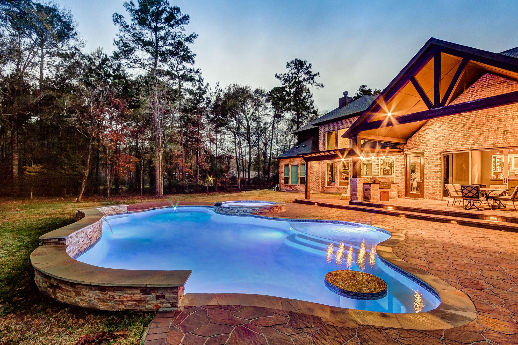Pool Landscaping Design, creekstone outdoor living, houston, tx