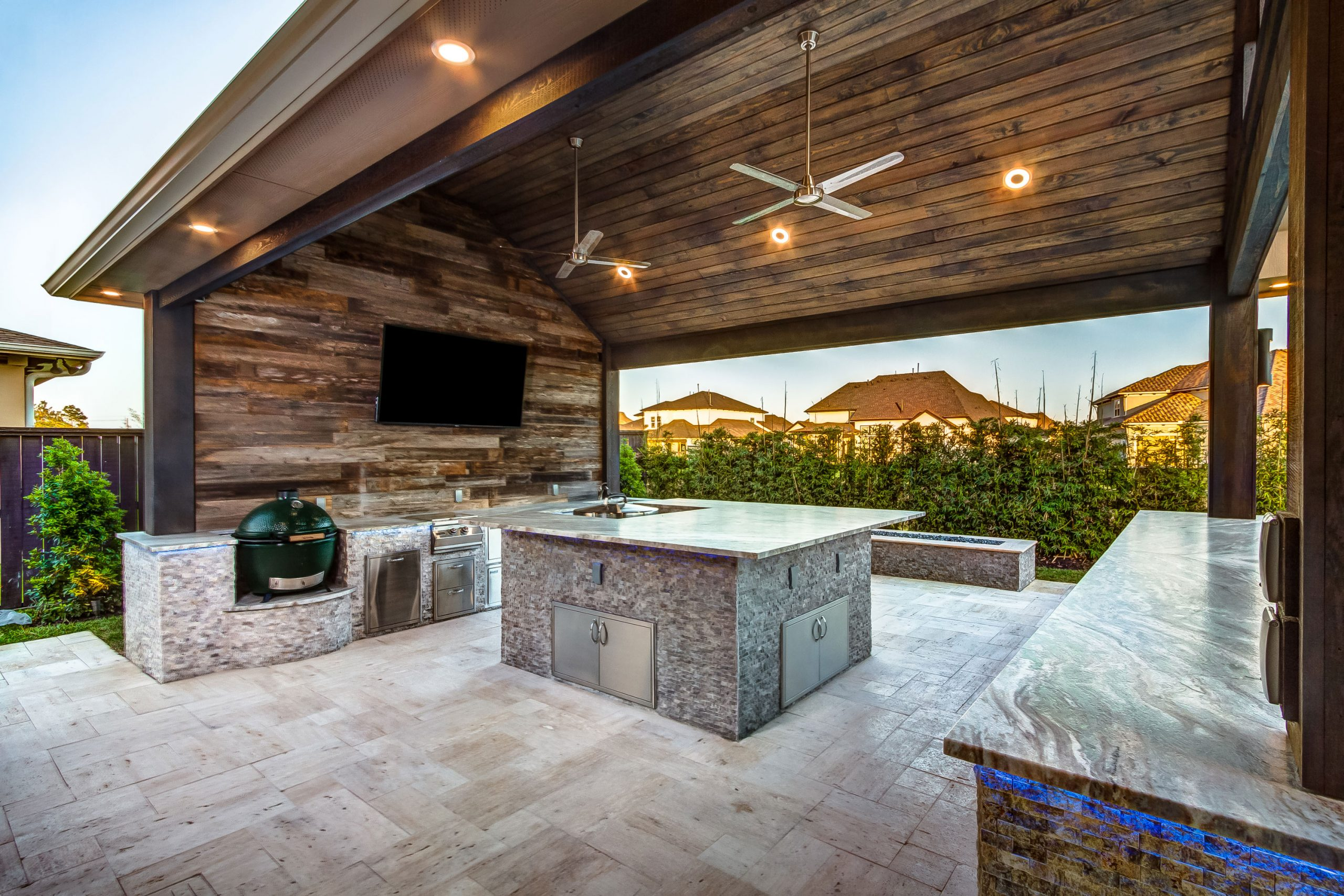 Designing a Contemporary Outdoor Kitchen Near Your Pool, Creekstone Outdoor Living, Spring, TX