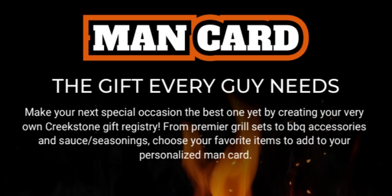 Man Card: The Gift Every Guy Needs Creekstone Outdoor Living